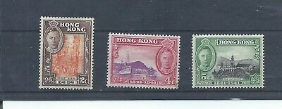 Hong Kong stamps. 3 of the 1941 Centenary of British Occupation stamps MH (B640)