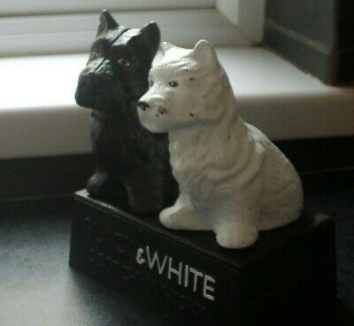 Black and white Scotch Whisky bar decoration