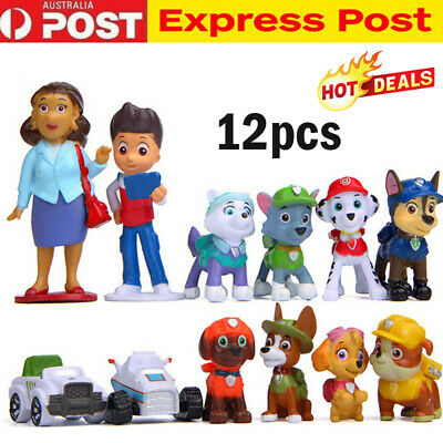 Paw Patrol Toys Puppy Rescue Action Figure Doll Kids Toy Gift Cake Topper 12 PCS