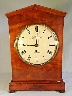 Mahogany Single Fusee Bracket Clock C1850.