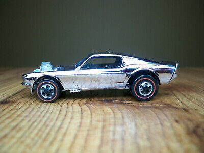HOT WHEELS Redline MUSTANG BOSS HOSS ~ 1969 ~ CHROME