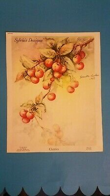 Slyvia McMichael 1957 Instructions for  Decorative Painting CHERRIES