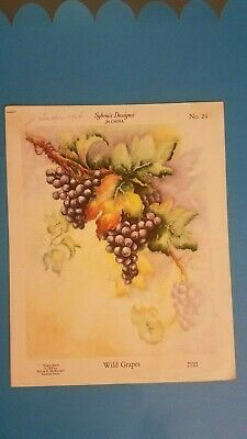 Slyvia McMichael 1956 Instructions for  Decorative Painting WILD GRAPES