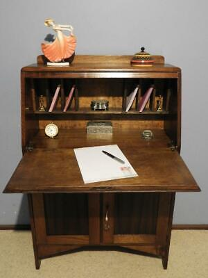 ANTIQUE VINTAGE ART DECO SECRETAIRE BUREAU DROP FRONT WRITING DESK 1930s