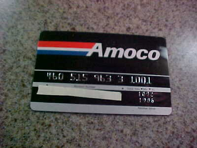 expired credit card. amoco. unused. expired 10//92
