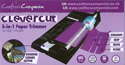 Crafter's Companion clevercut 5-in1 Paper Timmer 12'' x 12'' / A4