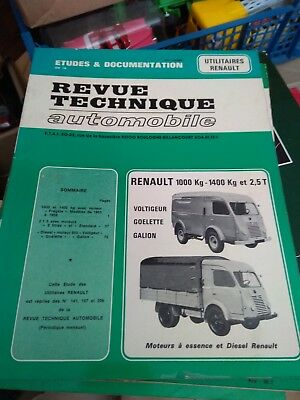 Revue Technique Automobile Etudes & Documentation Renault 1000 Kg Cip 1413