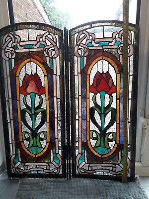 Stained glass windows Fully antique stunning art noveau unique multi coloured