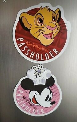 Disney World Annual Passholder Simba MAGNET Lion King Animal Kingdom Souvenir