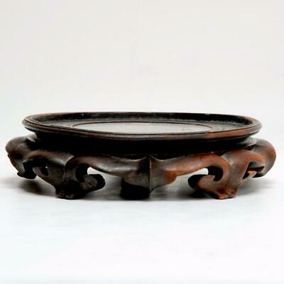 Vintage Poss. Antique Large Chinese Carved Wood Stand