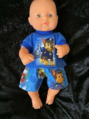 Dolls clothes made to fit 32cm Miniland  Dolls (size Small).  T-shirt And Pants