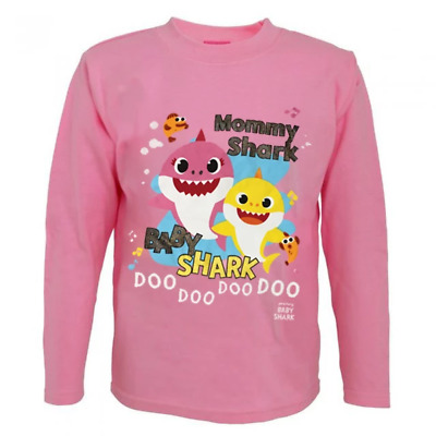 Mommy Shark Baby Shark Girls Long Sleeve Top