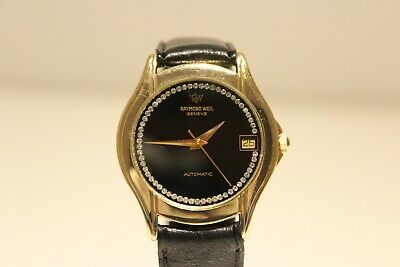 "Vintage Beautiful 18K Gold Plated Ladies Men's Automatic Watch ""Raymond Weil"""