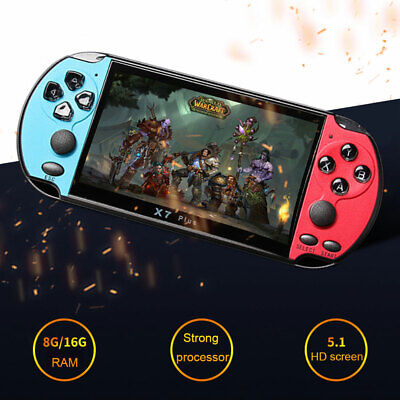 Portable X7 Plus Double Rocker LCD HD 8G Camera Game Console Music MP5 Handheld