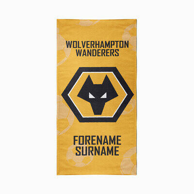 Personalised Wolves Towel | Microfibre Beach Towel | Licenced Product