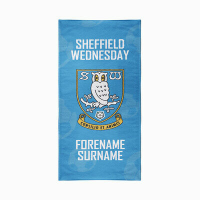 Sheffield Wednesday F.C. Beach Towel – Personalise with Any Name