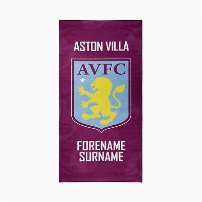 Aston Villa F.C. Beach Towel – Personalise with Any Name