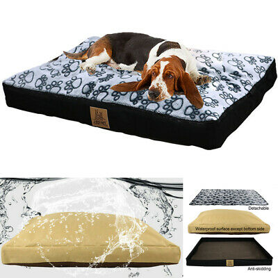 Waterproof Jumbo Soft Cotton Plush Dog Bed 39/47/53 in Large Extra Large Pet Bed
