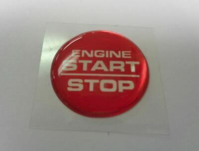 Challenger Charger Journey Starter Push Start Button Decal Emblem Start Stop Red