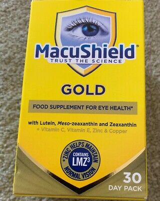 Macushield Gold 90 Capsules  Food Supplement Fast Dispatch Free P&P