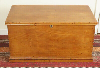 Fantastic Antique Pine Trunk - Blanket Box - Well Made - Beautiful Colour  c1910
