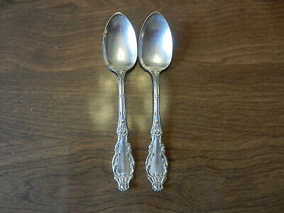 "1901 Benedict Mfg Co Dewitt Teaspoon 6"" Set of 2"