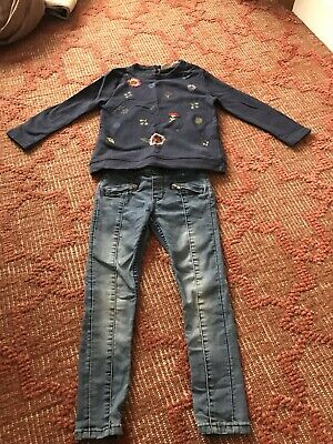 Girls ZARA / H&M Jeans And Jumper Outfit Set 3-4