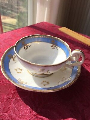 Antique Blue & White porcelain Cup and Saucer