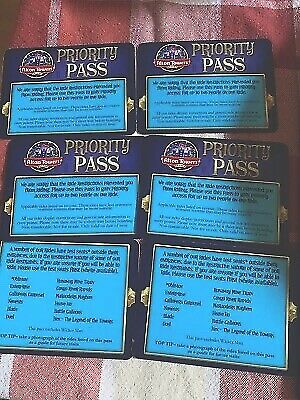 Alton Towers Complimen Priority Fast Track Ride Ticket Pass 2019 For 2 People X6