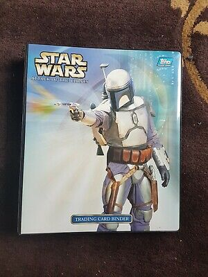 Star Wars: Attack of The Clones trading card base set + chase sets + binder