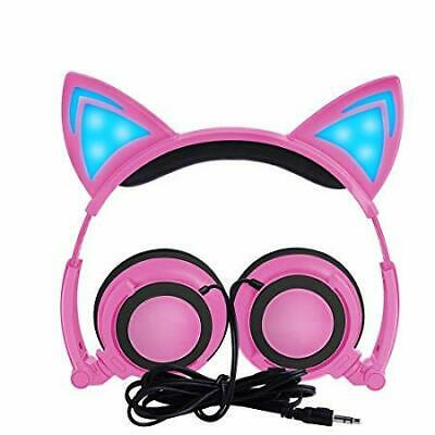 Kids Headphones With Cat Ears Sysmarts Wired For Children Folding Kindle Fire