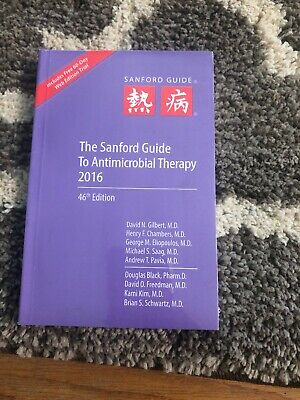 Never Opened Sanford Guide To Antimicrobial Therapy 2016 Edition