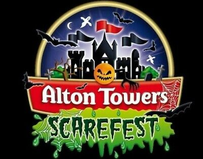 2 x Alton Towers Scarefest Tickets Saturday 12th October