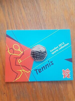 Tennis Olympic 50p Uncirculated