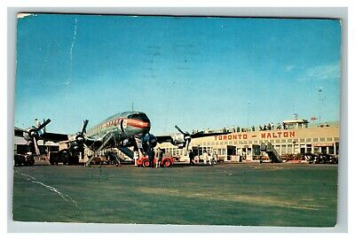 Malton Airport, Trans-Canada Airlines, Super Constellation c1962 Postcard G9
