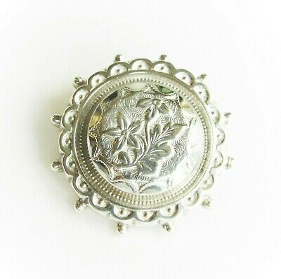 Victorian antique low grade silver ? silver-plated symbolic brooch