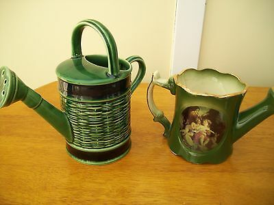 2 ceramic watering cans both in great condition
