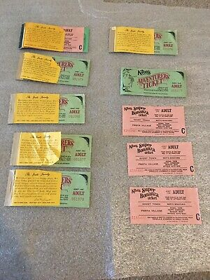 Lot Of 19 Vintage Knotts Berry Farm Tickets