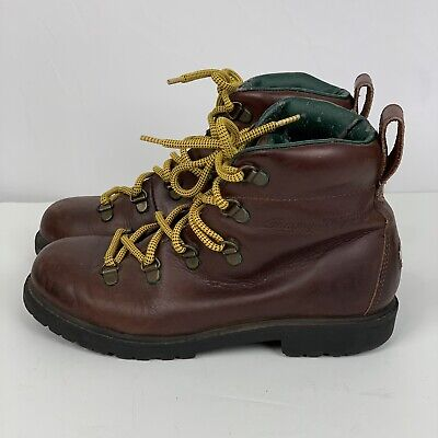 Vintage Tommy Hilfiger Logo Boots Size 4 M Youth Kids Yellow Laces