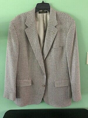 Brooks Brothers Sport Coat Mens  Wool Tan Houndstooth 2 Button Jacket