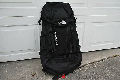 The NORTH FACE Terra 65 Backpack Hiking 65L Tech Optifit Black