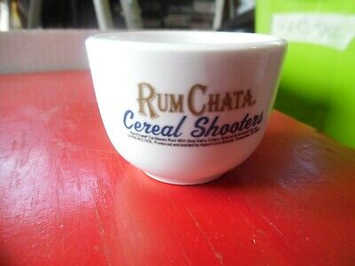 Lot 3 Rum Chata miniature cereal bowl shooters ceramic -2 oz shot