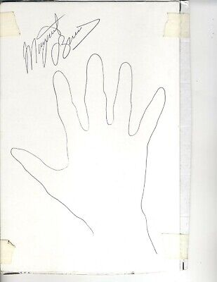 Margaret O'brien Sketch Of Her Hand Child Actress Autographed On Card