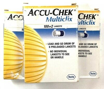 3 Accu Chek Multiclix Preloaded Lancets 102 Count ea Box 306 Total Sealed New