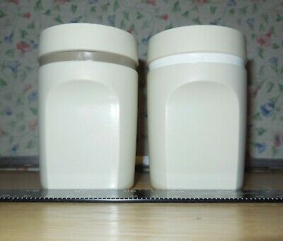 Vintage Tupperware Almond Colored Salt & Pepper Shaker Set #1471  Made in USA