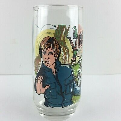 Vintage 1980 Burger King Star Wars Glass The Empire Strikes Back Luke Skywalker