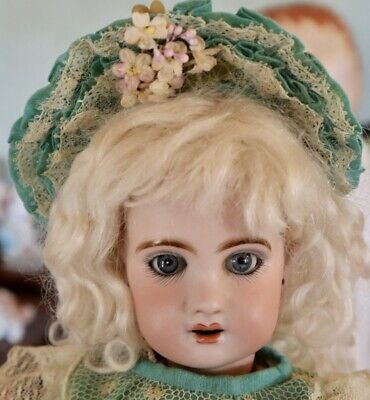 "Antique 13 1/2"" French Bisque Bebe Depose Tete Open Mouth Jumeau w/Great Outfit"