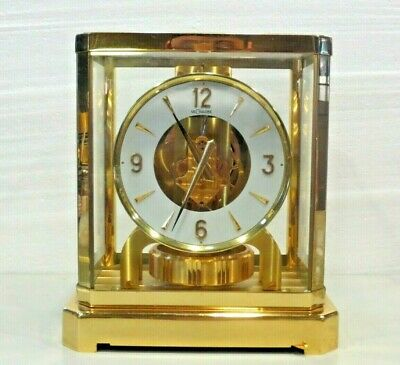 JUST CLEANED SERVICED 1970s JAEGER LECOULTRE 528 ATMOS CLOCK #249,000 WORKING