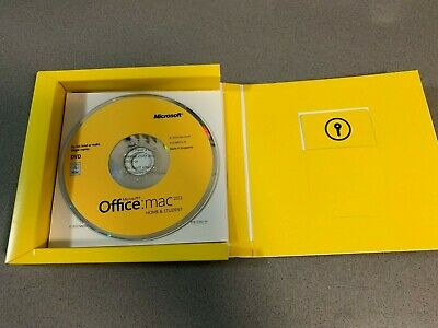 Microsoft Office 2011 For Apple MacOS DVD Media & Product Key Card License