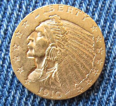 1910-P Indian Head Gold $2.50   Well Struck & Genuine Guaranteed Milled Edge